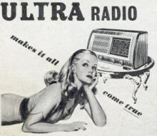 Vintage radio advertisement.